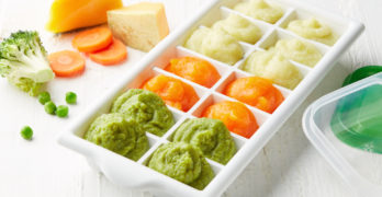 nutritious baby food in white tray | How to Save Money By Making Your Own Organic Baby Food