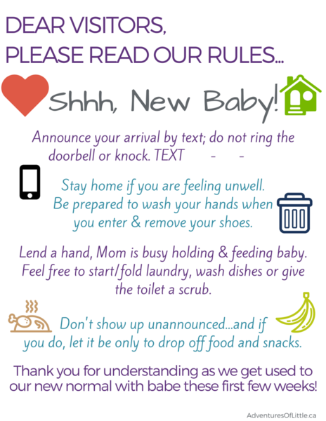 Rules after baby is born | Best advice for new parents