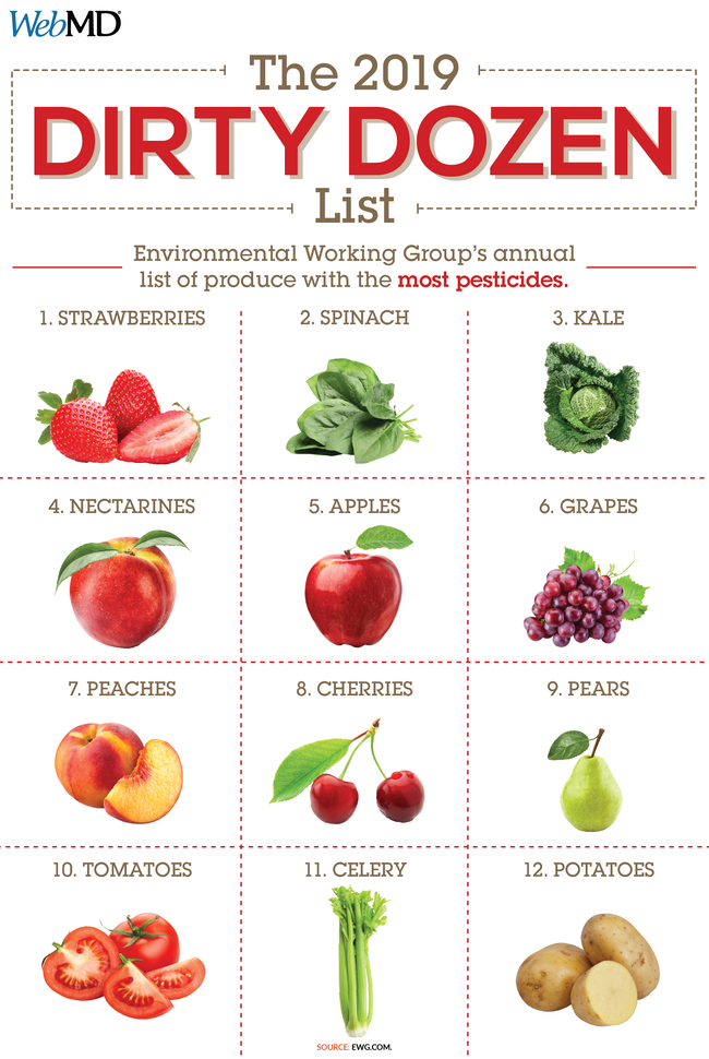 Organic Produce Dirty Dozen - How To Make Your Own Baby Food