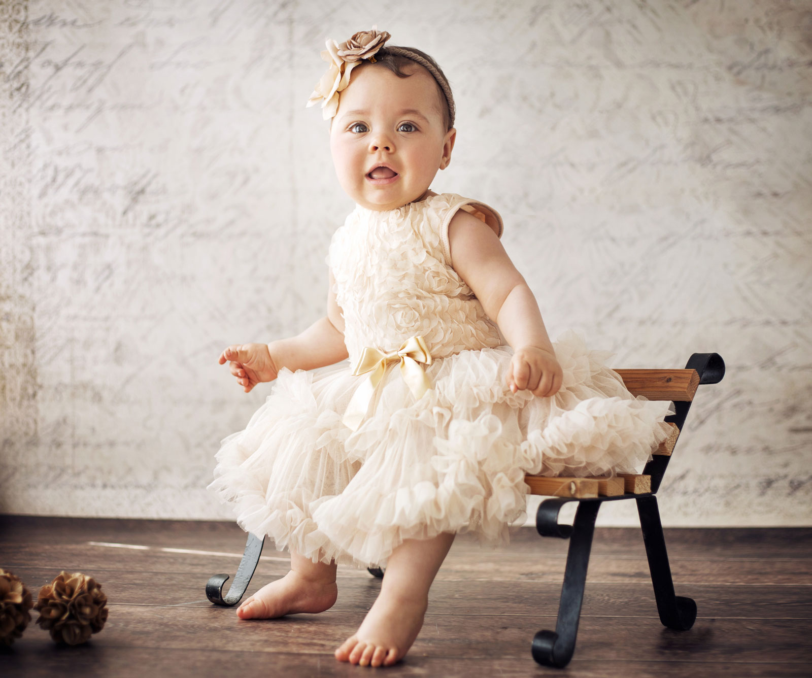 Baby Girl Sitting | The Top 5 Eco-Friendly Baby Clothes Brands