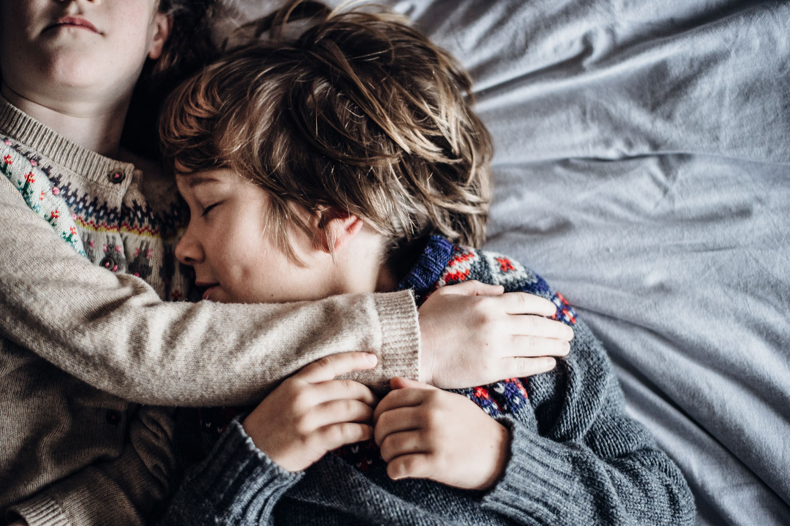 Sister Hugging Her Brother | How To Prepare Your Firstborn For A New Baby Sibling