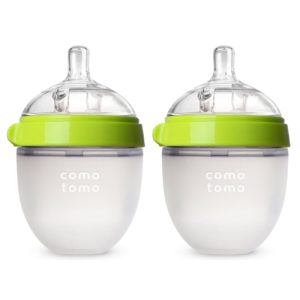 Comotomo Baby Bottle, Green, 5 Ounce