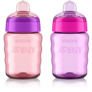 Philips Avent My Easy Sippy Cup (9 Ounce, Pink/Purple)